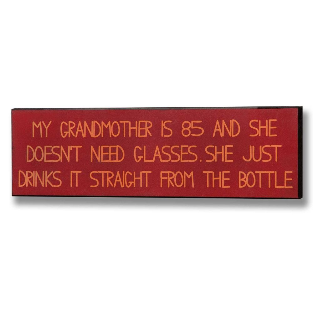 Grandmother Plaque Wooden Sign - 12cm x 40cm